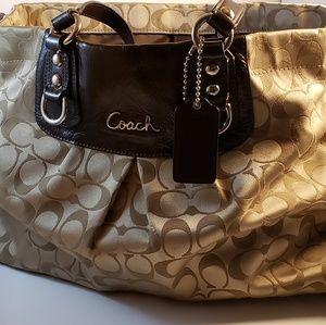 Coach Ashley Sateen Pleated Bag